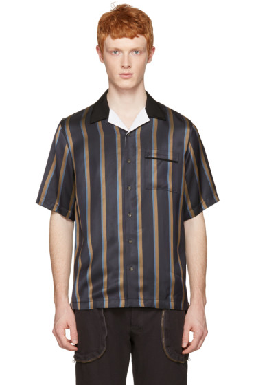 3.1 Phillip Lim - Navy Striped Pyjama Shirt