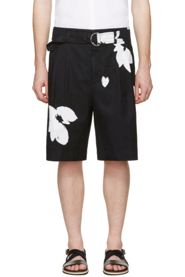 3.1 Phillip Lim - Black Floral Shorts
