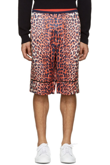 3.1 Phillip Lim - Reversible Orange Leopard Shorts