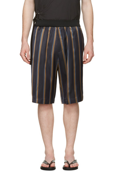 3.1 Phillip Lim - Multicolor Striped Tapered Shorts