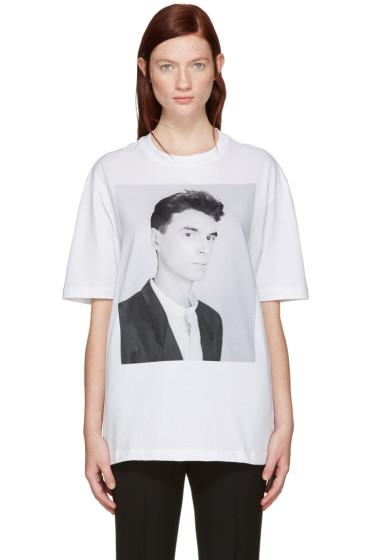 Raf Simons - White Robert Mapplethorpe Edition 'David Byrne' T-Shirt