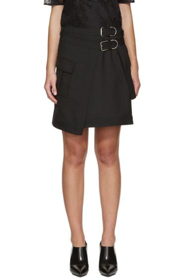 Carven - Mini-jupe noire Asymmetric Pocket