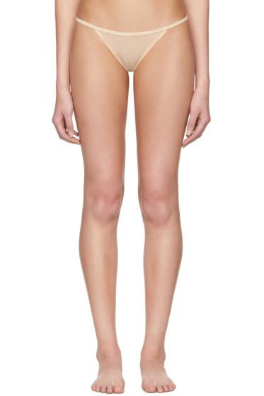 Calvin Klein Underwear - Beige Mesh String Thong