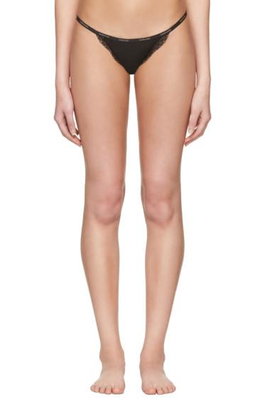 Calvin Klein Underwear - Black Mesh Lace String Thong