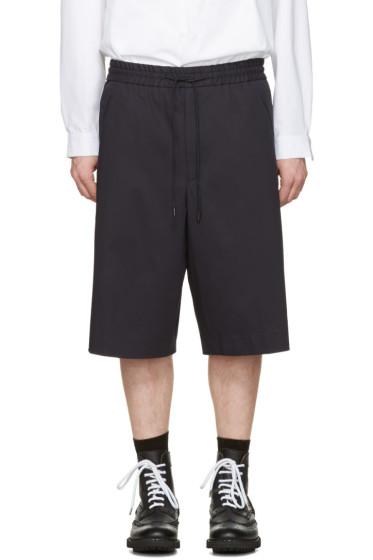 Juun.J - Navy Oversized Shorts