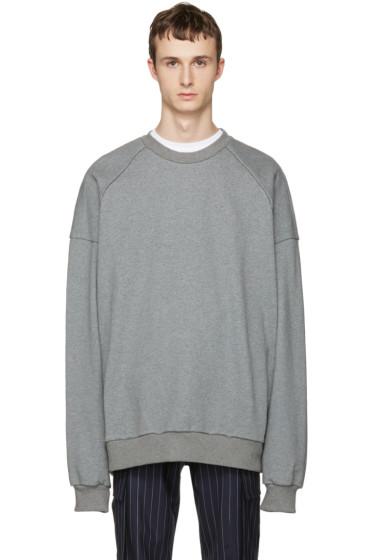 Juun.J - Grey 'I Know Both' Pullover