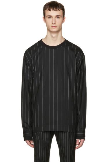 Juun.J - Black Pinstripe Pullover