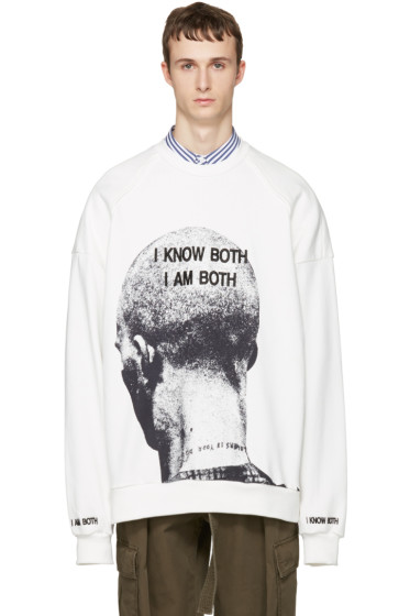 Juun.J - White 'I Know Both I Am Both' Pullover