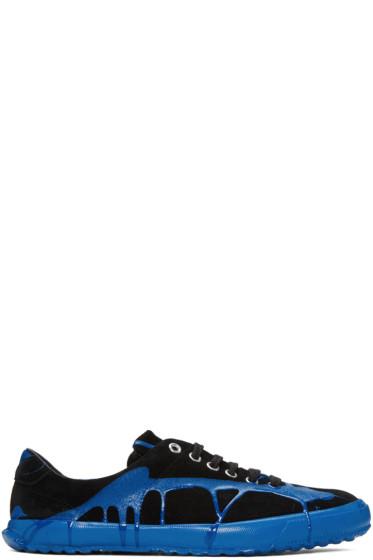 Comme des Garçons Homme Plus - Black & Blue Painted Novesta Sneakers