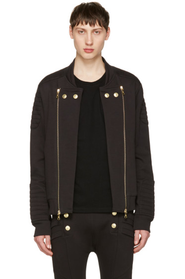 Pierre Balmain - Black Convertible Zip-Up Sweater