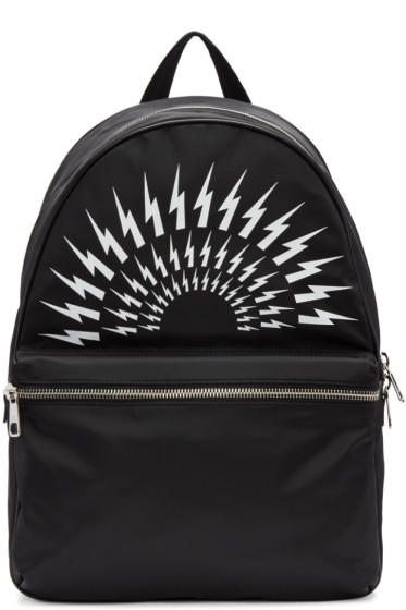Neil Barrett - Black Thunderbolt Backpack