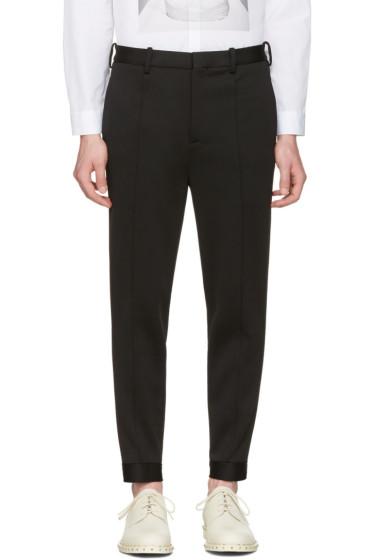 Neil Barrett - Black Double Bonded Tech Trousers