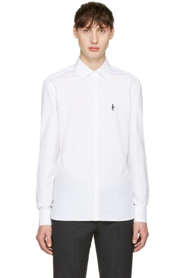 Neil Barrett - White Small Thunderbolt Shirt