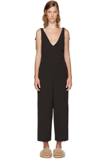 See by Chloé - Black Crepe Bow Jumpsuit