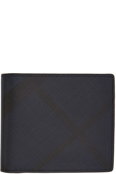 Burberry - Navy Check Wallet