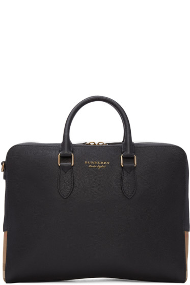 Burberry - Black Leather Horton Briefcase