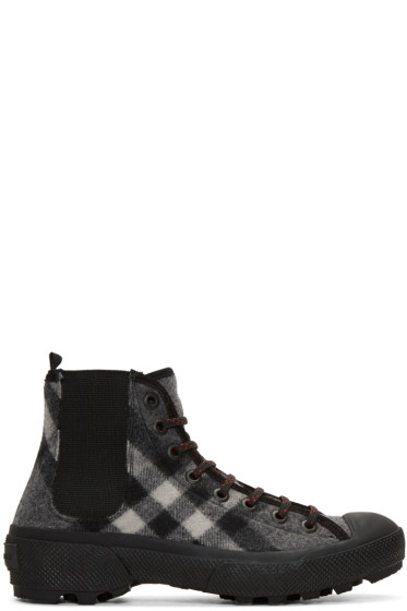 Burberry - Grey Check Oven Boots