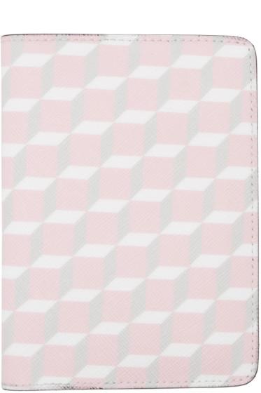 Pierre Hardy - SSENSE Exclusive Pink Cube Passport Holder