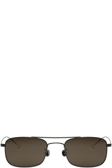 Ann Demeulemeester - Black Rectangular Sunglasses