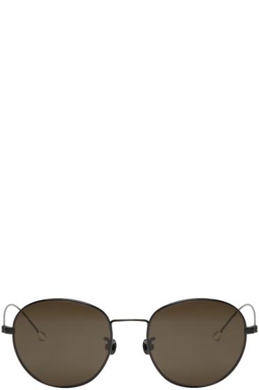 Ann Demeulemeester - Black Small Round Sunglasses