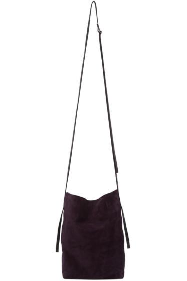 Ann Demeulemeester - Purple Suede Shoulder Bag