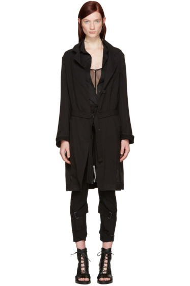 Ann Demeulemeester - Black Sheer Coat