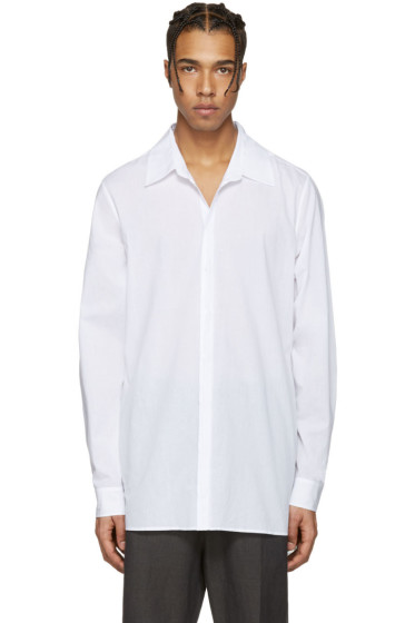 Ann Demeulemeester - White Back Belt Shirt
