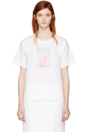 Marni - White & Pink Ruth van Beek Edition Graphic T-Shirt