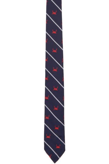 Thom Browne - Navy Crab Rope Classic Tie