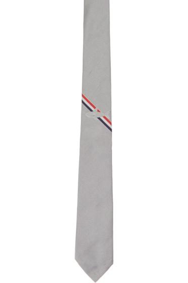 Thom Browne - Grey Shark Stripe Classic Tie