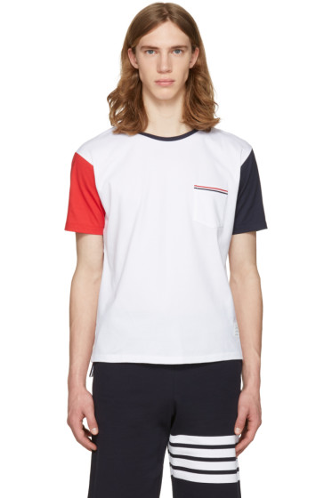 Thom Browne - White Funmix Pocket T-Shirt