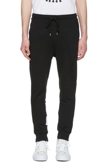 Markus Lupfer - Black Skull & Stripes Lounge Pants