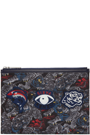 Kenzo - Black Multi Icons Pouch