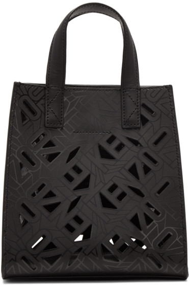 Kenzo - Black Flying Logo Tote Bag