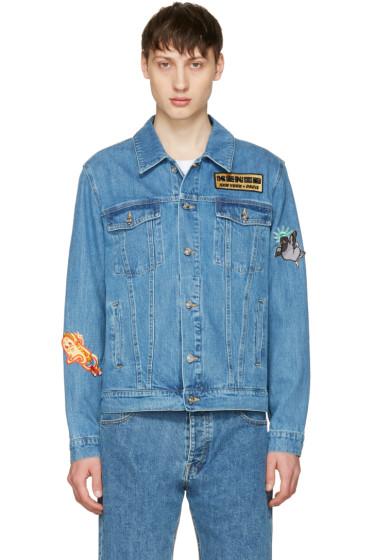 Kenzo - Blue Denim Badges Jacket