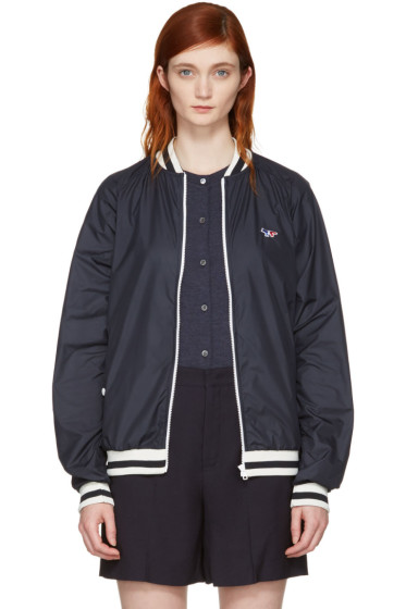 Maison Kitsuné - Navy Tricolor Fox Windbreaker Jacket