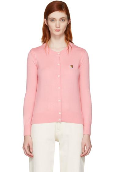 Maison Kitsuné - Pink Fox Head Patch Cardigan