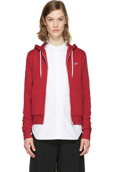 Maison Kitsuné - Red Fox Patch Zip-Up Hoodie