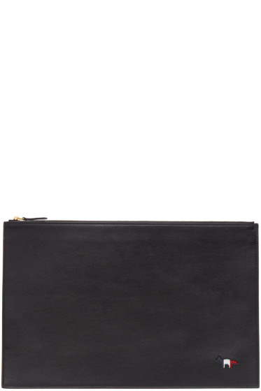 Maison Kitsuné - Black Tricolor Fox Document Holder