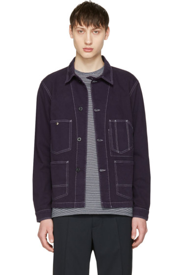 Maison Kitsuné - Navy Chevron Worker Jacket
