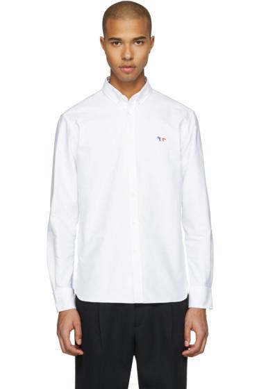 Maison Kitsuné - White Fox Patch Shirt