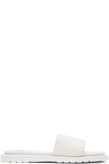 Dr. Martens - White Cierra II Slide Sandals
