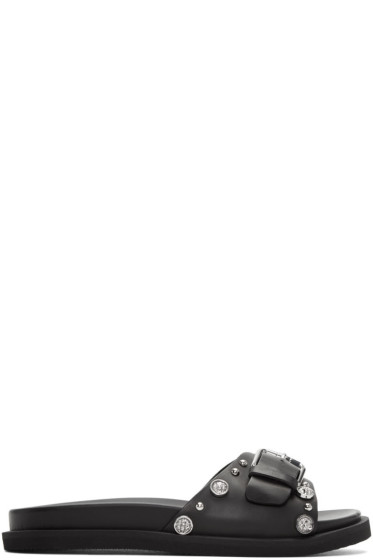 Versus - Black Lion Buckle Sandals