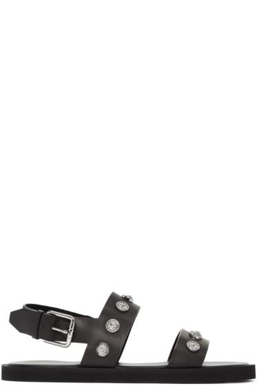 Versus - Black Lion Sandals