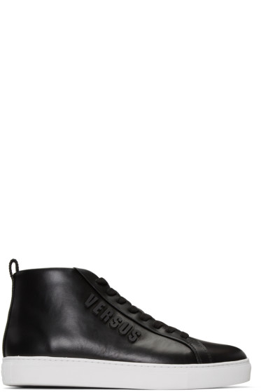 Versus - Black Logo High-Top Sneakers