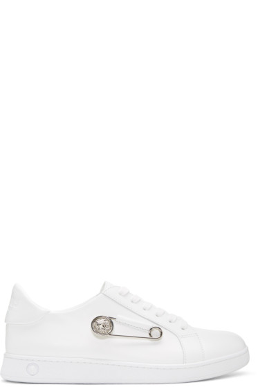 Versus - White Safety Pin Sneakers