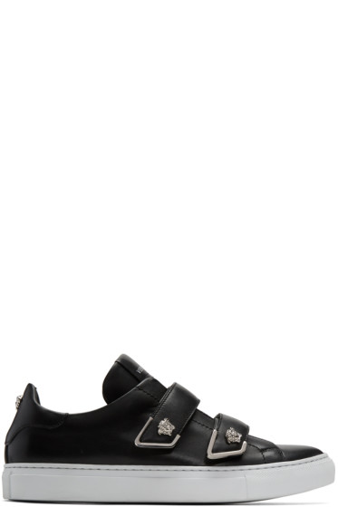 Versace - Black Double Strap Medusa Sneakers
