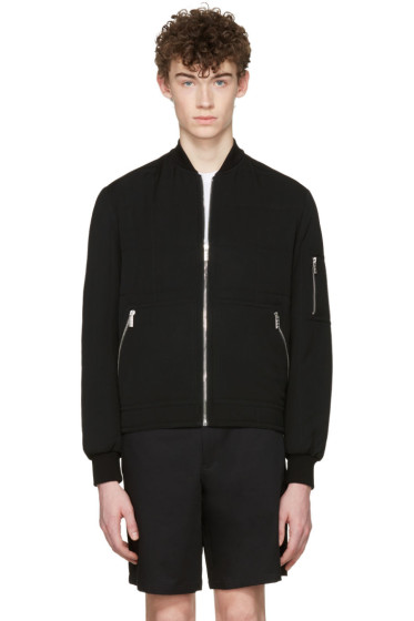 Versace - Black Quilted Wool Jacket