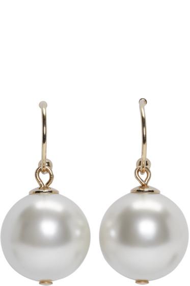 Simone Rocha - Ivory Little Pearl Drop Earrings