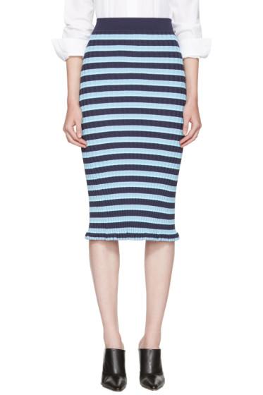 Altuzarra - Blue Striped Bloomfield Skirt